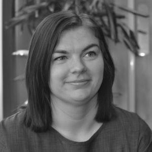Black and white photo of Laura Gotts
