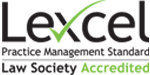 Lexcel Practice Management Standard Law Society Accredited Logo